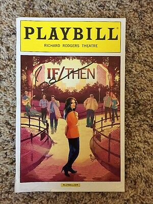 If/Then Playbill Signed By Idina Menzel