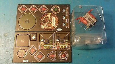 Star Wars X-Wing Miniatures Game Quad Jumper + base cards, tokens
