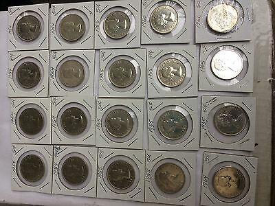Canada 50 Cent Silver Coin Lot Of Twenty