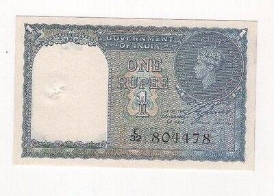 i68 Government of India 1 Rupee 1940 P-25a Crisp Banknote Paper Money Currency