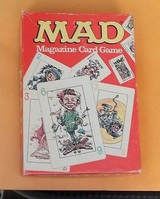 1980,Mad,Magazine,Card Game,Very Good Condition!