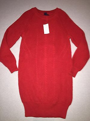 Nwt Gap Kids Girls Alpine Red Ribbed Sweater Dress Size S 6-7 6 7