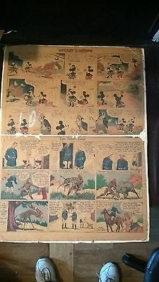 Mickey Mouse Sunday Page by Walt Disney 10/06/1935 Tabloid Size, Racist?