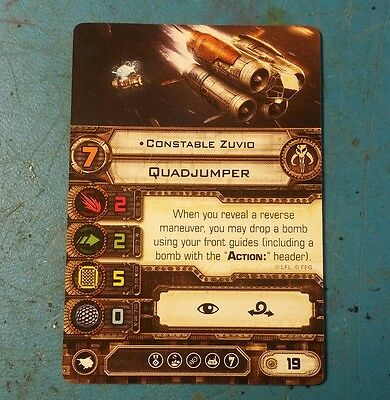 Star Wars X-Wing Miniatures Game Constable Zuvio card