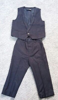 Boys smart navy trousers and waistcoat from Next size 18-24 months