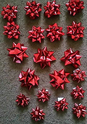 Self Adhesive Gift Bows - Red - Gold - Silver For Presents - Christmas - Xmas