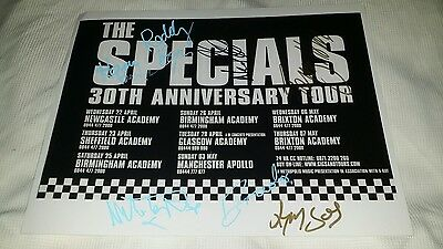 The Special signed 30 year Anniversary photo inc Terry Hall. Legendary Ska Band