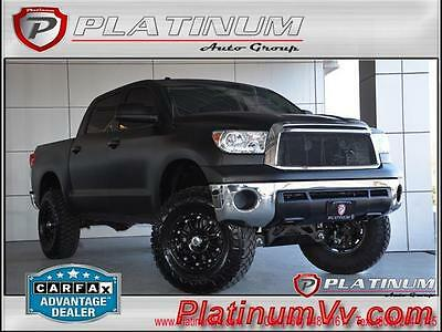 2011 Toyota Tundra Base Crew Cab Pickup 4-Door 2011 Toyota Tundra 4WD Crew max Matte Black Lifted Amp Steps XD Wheels Low Miles