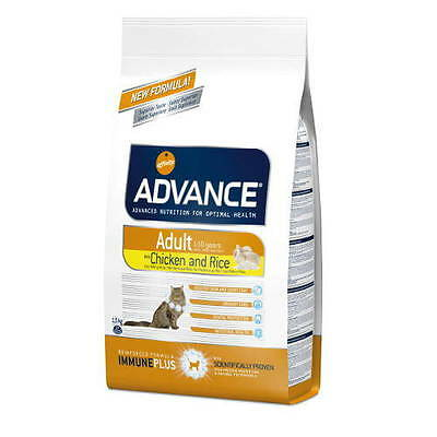 Pienso Advance Gato Adulto  Pollo Y Arroz  Formato 15 Kg