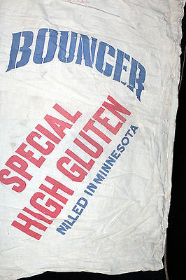 """BOUNCER SPECIAL HIGH GLUTEN PATENT FLOUR"""" BLEACHED-BROMATED 98LBS. Flour Sack"""