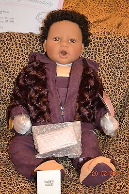 "Middleton Doll ""Keeping Warm"" by artist Reva Schick in original box with COA"