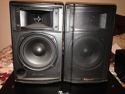Bookshelf Speakers Klipsch Synergy KSB 11 Pair Black Stereo Speaker Book Shelf