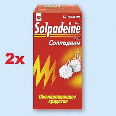 24 tablets Solpadeine Fast Pain Relief Soluble Tablets Active 2x12 Caffeine