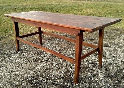 Antique Work Table for Amish Harvest or Butcher Day Circa 1900