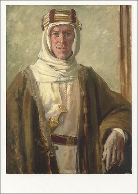 T. E. Lawrence in 1919 by Augustus John British Oil Painting Portrait Postcard