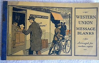 Vintage Western Union Message Blanks Great Condition 1920's? R B White President