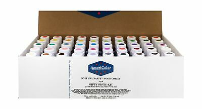 AmeriColor Nifty Fifty Kit .75 oz Soft Gel Paste 50 Pack NO TAX