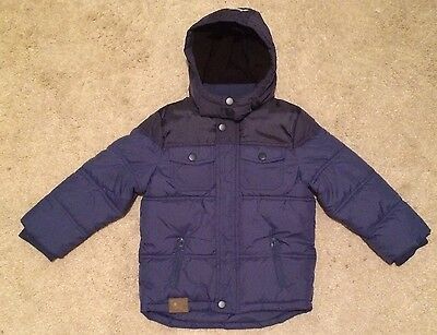 Boys Hooded Winter Jacket Padded Size 5 Sainsburies TU Workwear NEW RRP £18