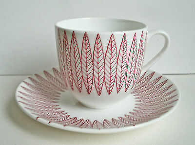 Gustavsberg Salix Stig Lindberg cup and saucer perfect condition
