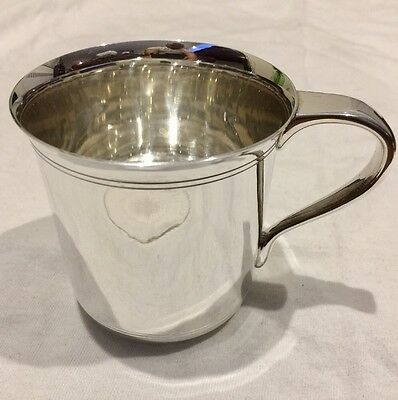 TIFFANY & CO. MAKERS 1935 Sterling Silver with Handle BABY Cup 6 oz