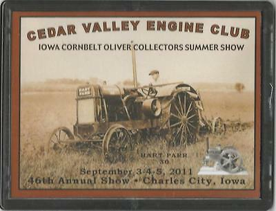 New 1924 Hart-Parr Tractor Show Plaque 2011 From Cedar Valley Engine Club In Ia