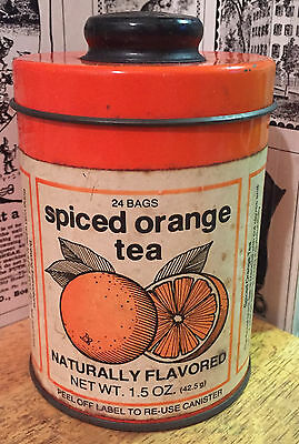 Vintage Marshall Field & Co. Spiced Orange Tea Tin / Can / Canister Advertising