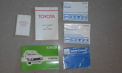Toyota Corona 1978 Owners Manuals