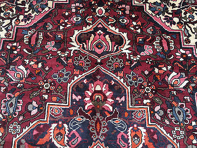 7x10 HAND KNOTTED WOVEN RUG PERSIAN HERIZ IRAN WOOL AREA RUGS 7 x 10 made 6 8 9