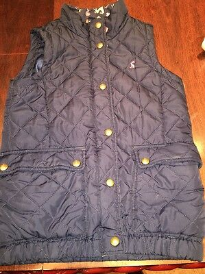 Girls Joules Navy Body warmer/ Gilet, Age 9-10 Years