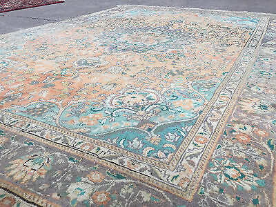 7x10 HAND KNOTTED WOVEN PERSIAN AREA RUG IRAN MADE WOOL WOVEN 7 x 10 antique 6 9
