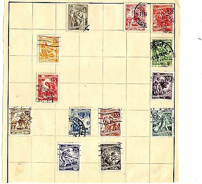 13 Stamps of Yugoslavia from Stamp Album