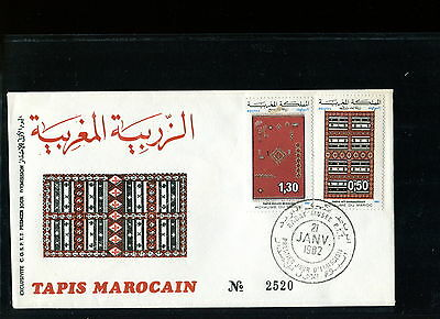 1982 Morocco FDC. Tapis, Carpet. First Day Cover