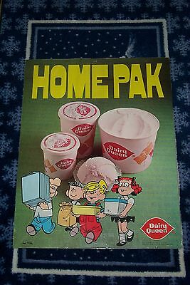 Vintage Dairy Queen Poster Dennis The Menace With Margaret & Friends