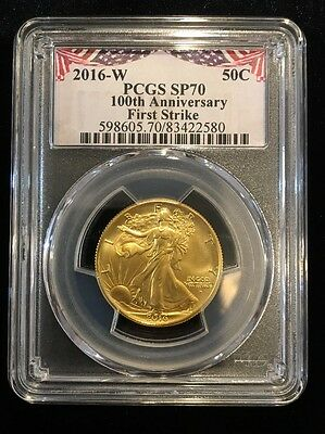 2016-W Gold Walking Liberty Half Dollar Centennial PCGS SP70 First Strike - BL