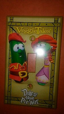 Veggie Tales  Duke and the Great Pie War plastic light switch plate cover