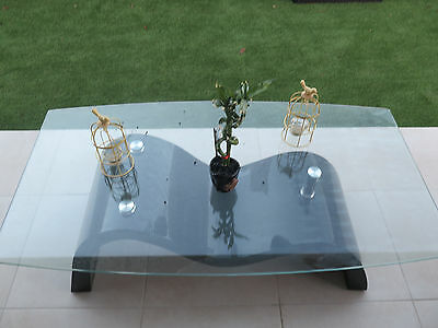Black / Chrome  With Glass top Coffee Table