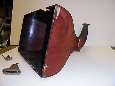 Antique Gramaphone Wooden horn and cabinet trim parts