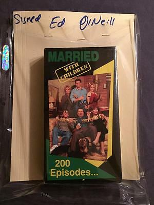 Married With Children Vhs Tape Autographed By Ed O'neill