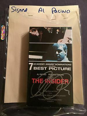 The Insider Vhs Tape Autographed By Al Pacino