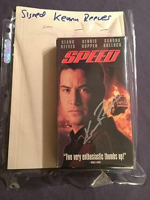 Speed Vhs Tape Autographed By Keanu Reeves