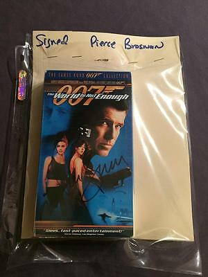 The World Is Not Enough Vhs Tape Autographed By Pierce Brosnan