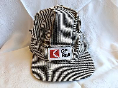 New! Child's CP Rail logo Striped Train Conductor Hat Canadian Pacific (129)