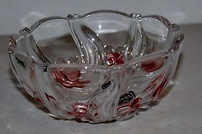 """NIB Mikasa 5"""" Bowl in Pink Frost Floral Dance Pattern Germany"""