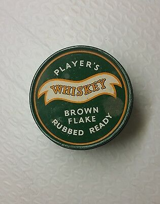 PLAYER'S WHISKEY Brown Flake Ready Rubbed tobacco empty 1 Ounce tin Imperial