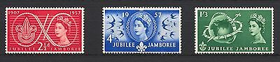 1957 SG557-559 2½d-1s3d World Scout Jubilee Set (3) Mounted Mint, hinged ABAF