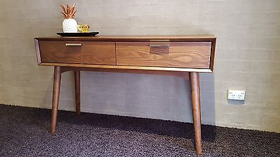 New Retro Danish Timber Console Sofa Hall Table