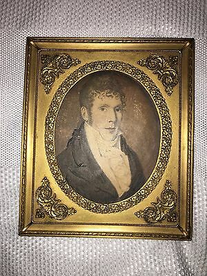 Antique Vintage FRENCH EMPIRE Gilt Dore Bronze Photo Picture FRAME  Etching