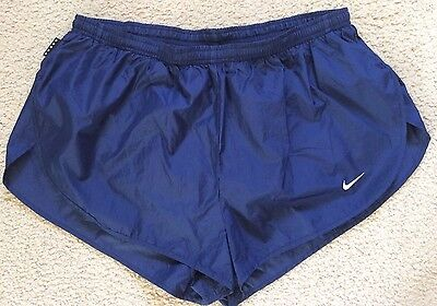 NIKE Dri-Fit Mens Running Gym Sports Shorts Inner Pants Blue Size XL
