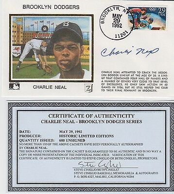 Charlie Neal Signed Autographed Brooklyn Dodgers FDC Browns 32596