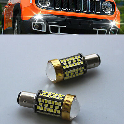 2x 6000K White SMD cree LED Daytime Running Light For Jeep Renegade 2015-2017